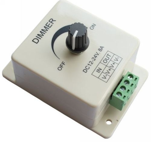 High Quality 12V 8A 96W LED Strip Light lamps Switch Dimmer Brightness Controller for Flexible light(China (Mainland))