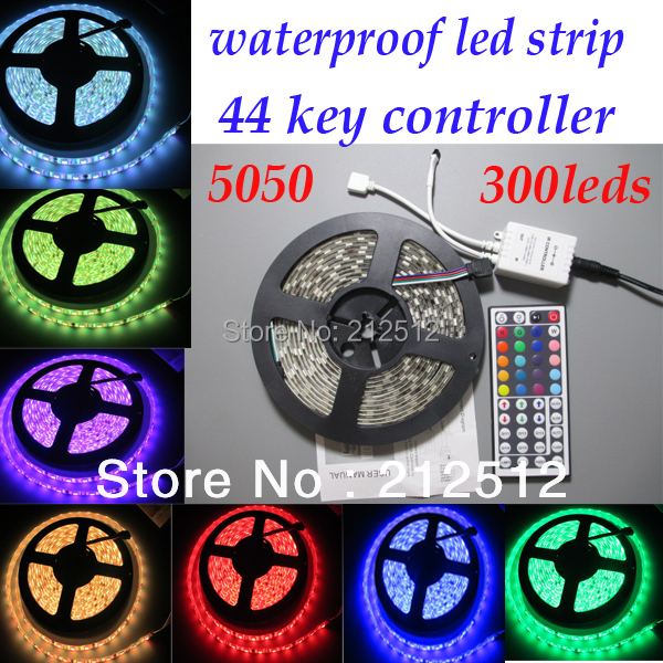 12v Waterproof 5m 72W 300leds 5050 SMD Flexible White Warm White rgb Led Strip Ribbon Tape Christmas Party Decoration Light(China (Mainland))