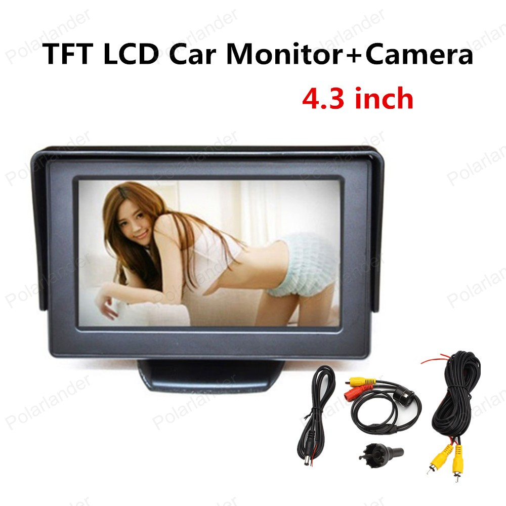 best selling TFT LCD display Car Monitor 4.3 inch LED backlight display car rear view monitor with reverse camera(China (Mainland))