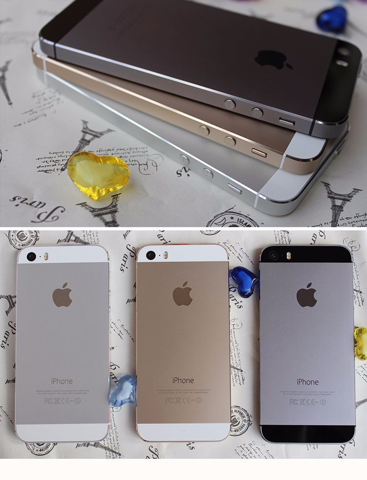 5s factory unlocked original apple iphone 5s 16gb 32gb 64gb rom 8mp touch id icloud app store. Black Bedroom Furniture Sets. Home Design Ideas
