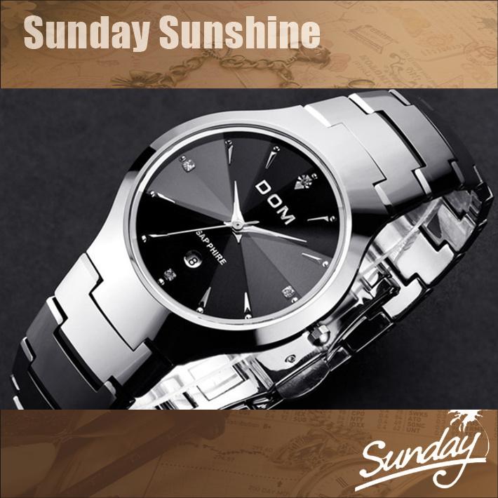 DOM Brand luxury full Tungsten steel casual quartz watch dress men & women dive watches relogio masculino designer wristwatches(China (Mainland))