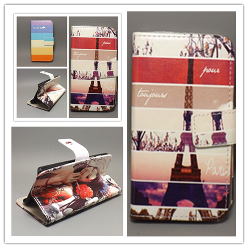 Butterfly Flower Flag Designer Wallet Flip Stand Book Cover Case Alcatel One Touch Pop C7 7041 7041D OT7041 free shpping - mm-01 store