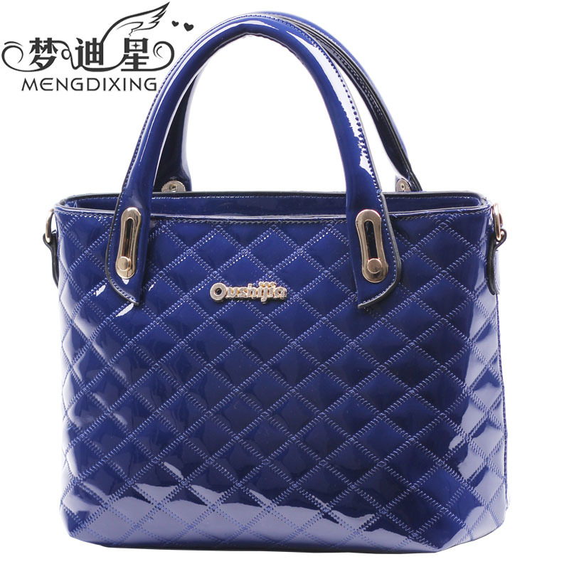 S01402 European Style Ladies Fashion Handbags Woman PU Leather Shoulder Bag Messenger Bag Candy Color Tote FS(China (Mainland))
