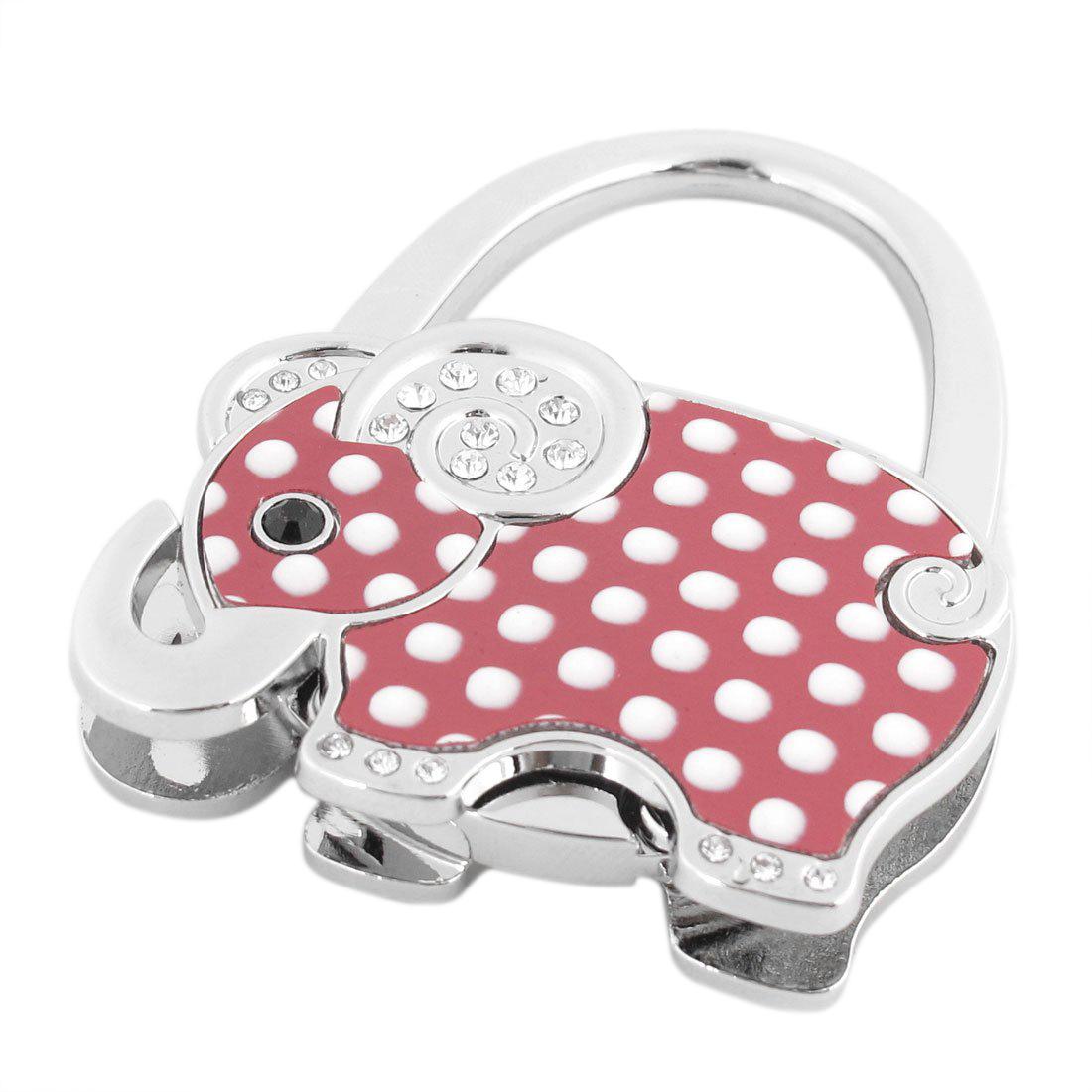 VSEN Hot White Dots Print Elephant Decor Foldable Purse Handbag Hook Decoration for Lady(China (Mainland))