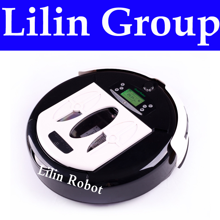 Multifunctional Robot Vacuum Cleaner (Clean,Sterilize,Mop,Air Flavor),Virtual Isolator,Schedule,LCD,Self Charge,Eletrodomestico(China (Mainland))
