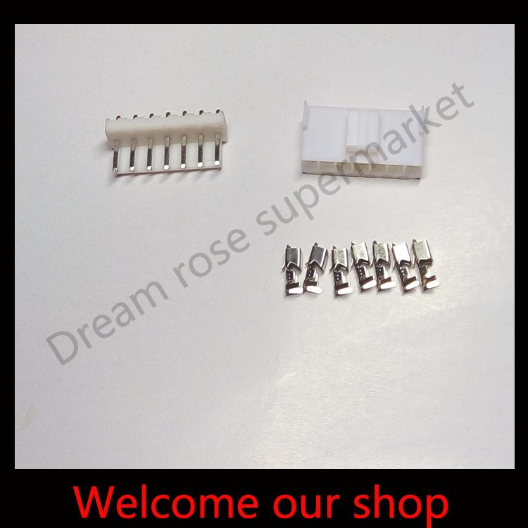 50sets VH3.96 7Pin male female electrical terminal kit connector plug car pitch 3.96mm Pin Header+Terminal+Housing free shipping(China (Mainland))