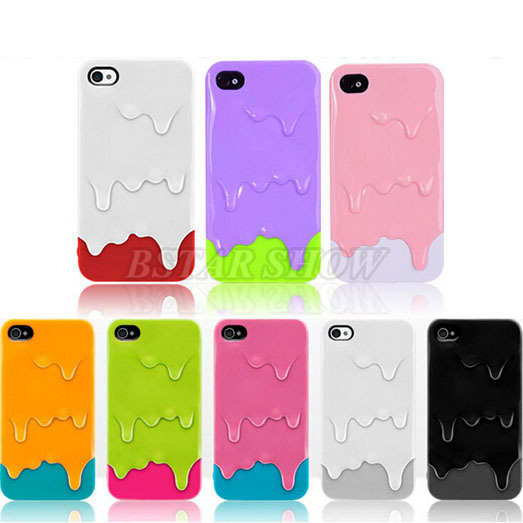 2015 New Style Cute lovely cool 3D summer Melt Ice Cream protective shockproff Hard Back Cover Skin Case iPhone 5 5s PT3017 - Corcossi Science & Technology CO., LTD store