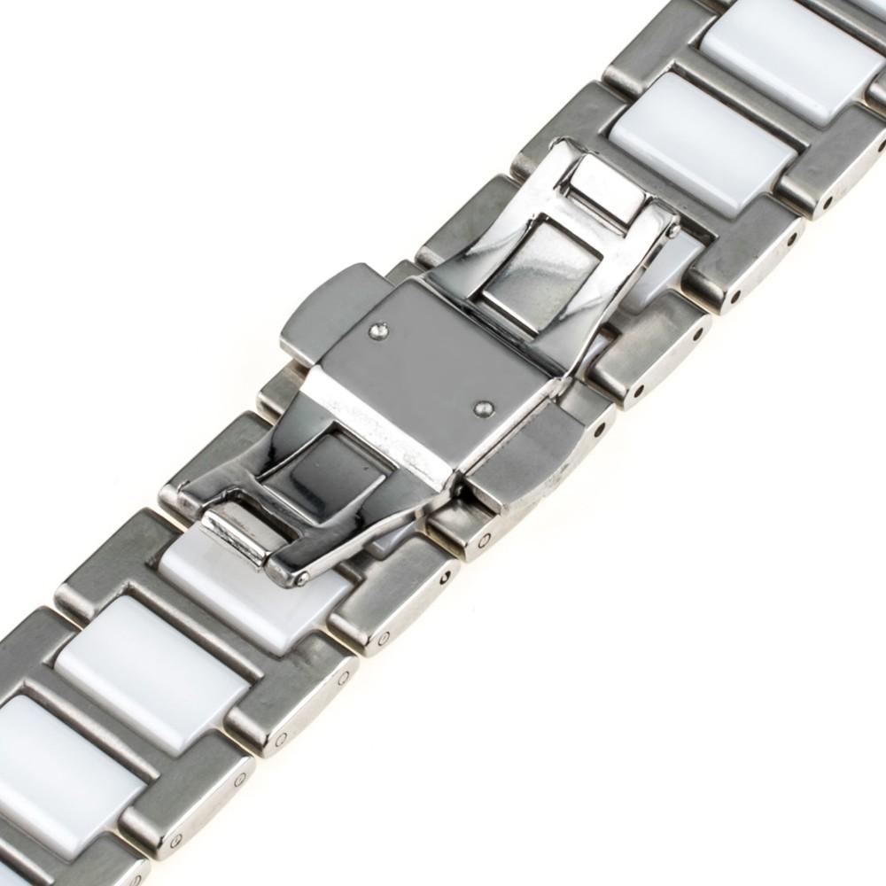 18 мм 20 мм 22 мм Керамические Часы Band + Обновленная Ссылка Remover Универсальный Ремешок Бабочки Пряжки Ремня Браслет Черный розовое Золото Серебро