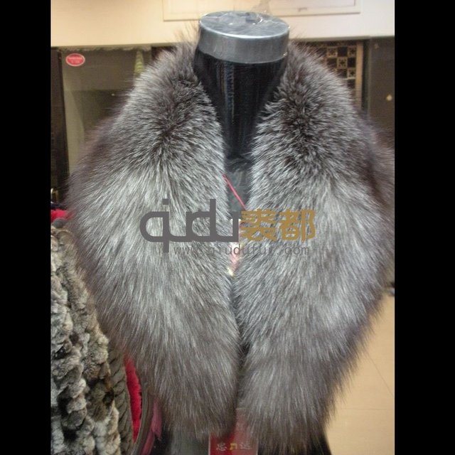 Genuine Silver Fox Fur Collar Winter Big Charm Scarf Neckwear Women's Accessories/Hot sale/Free Shipping QD5974  A G G