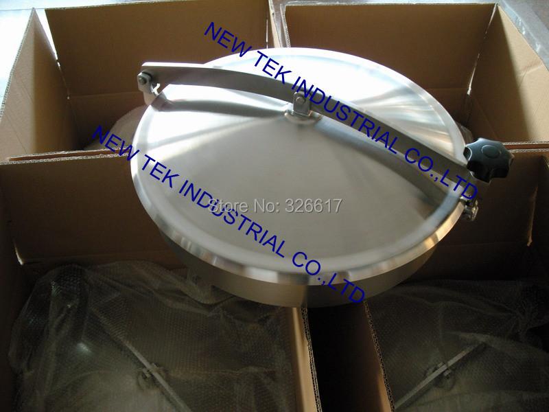 400mm Heavy Duty Round Manway, Non-pressure Manhole Cover, Stainless Steel 304 Food Grade Mandoor(China (Mainland))
