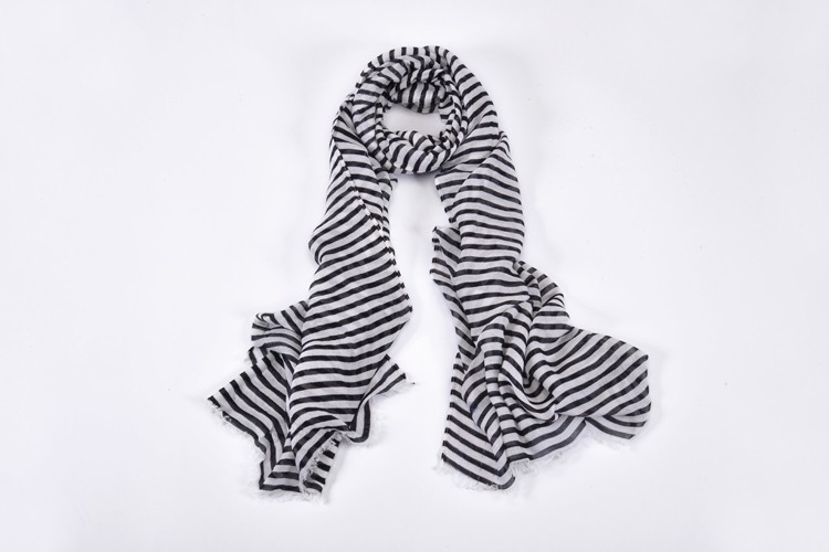 New Fashion Black And White Stripes Scarf Women Luxury Brand Scarf Man Fashion Viscose Spring And Winter Scarves BL-0037