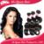 Ali queen hair brazilian body wave 3 bundles,Unprocessed 6A brazilian virgin hair body wave tangle free human hair weave bundles
