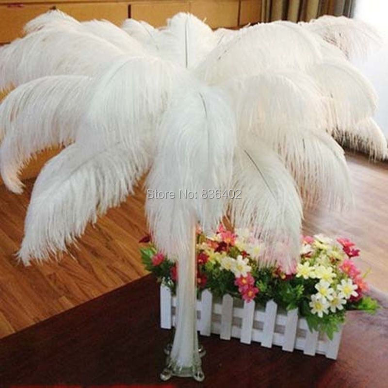 Cheap ostrich feathers 45 50cm artificial ostrich feathers for Synthetic feathers for crafts