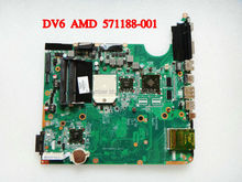 FOR HP 571188-001 main board DV6 Laptop Motherboard DAUT1AMB6E0 DAUT1AMB6E1 Mother board 100% Tested(China (Mainland))