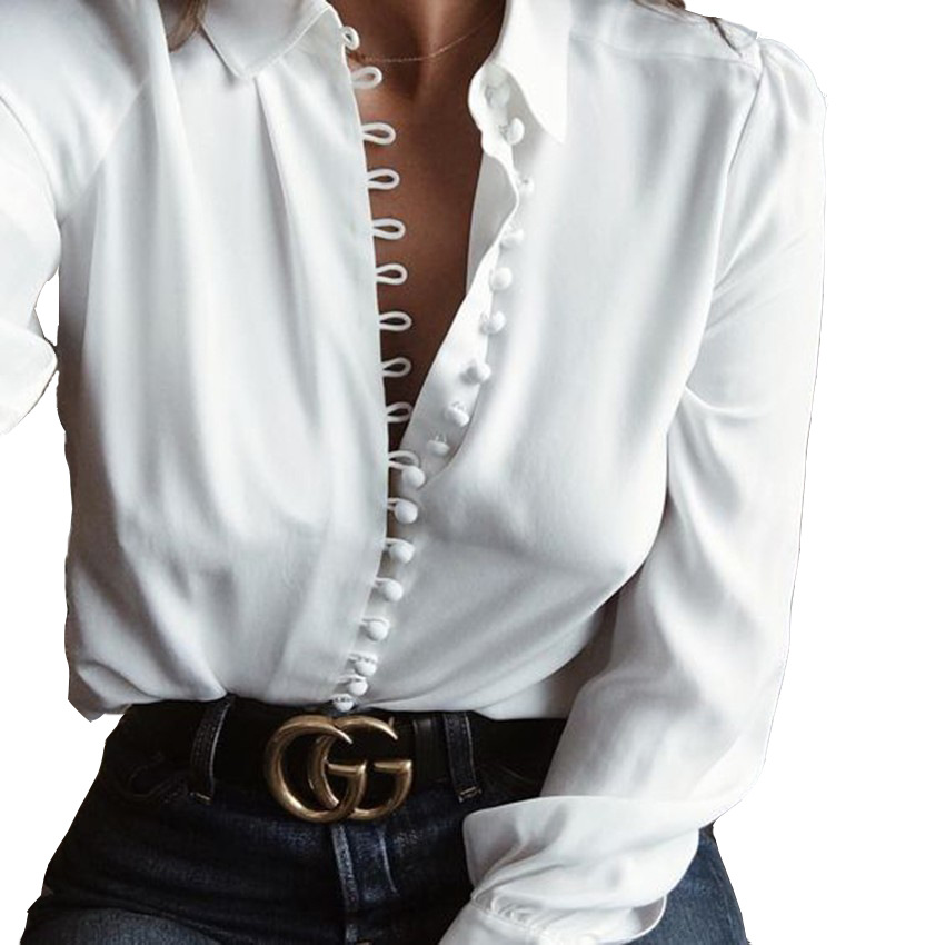 Womens White Button up Shirt Promotion-Shop for Promotional Womens ...
