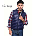 New Men Ultra Light Down Plus XXXL 9 Colors Stand Collar Zipper Puff Gilet Vests Jackets