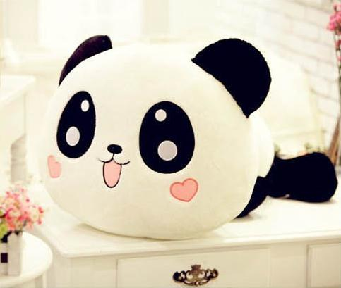 Lovely Stuffed Animals Best Birthday Gift High Quality Of 25 cm Panda Plush Toys Lie Prone To Lie Prone Bear Holiday Gifts(China (Mainland))