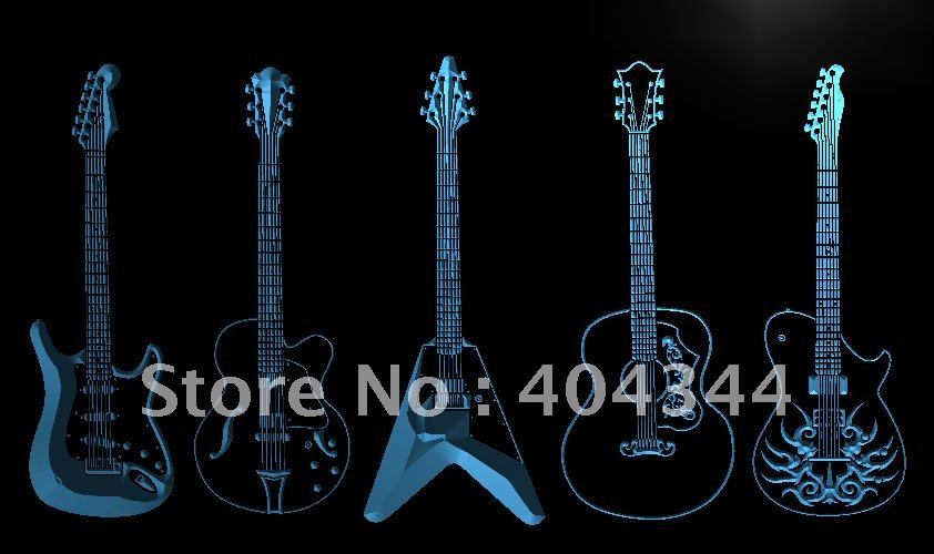 LF099- Guitar Weapons Band Room LED Neon Light Sign(China (Mainland))