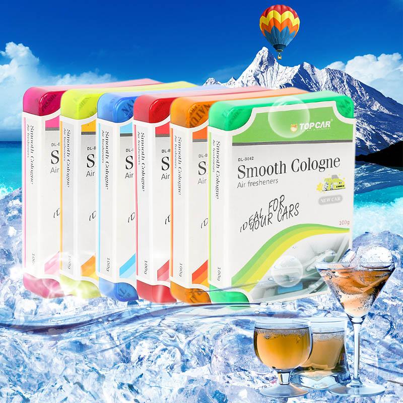 1 Pcs Gel Solid Fragrances Car Air Freshener 6 Natural Smells Home Office Deodorizing Perfume Car Accessories(China (Mainland))