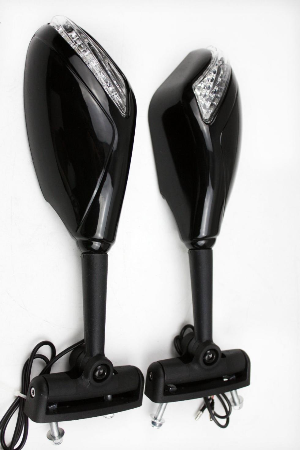For Motorcycle Honda CBR 600 F4 900 929 954 CBR1000 Turn Signal Yellow LED lights Mirrors