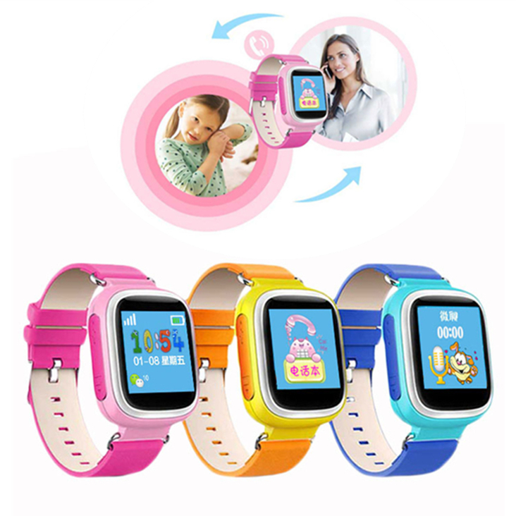 Little Genius Color Screen Kid GPS Tracker Smart Watch Wristwatch SOS Anti Lost Support GSM Compatibility Android&IOS Phone(China (Mainland))