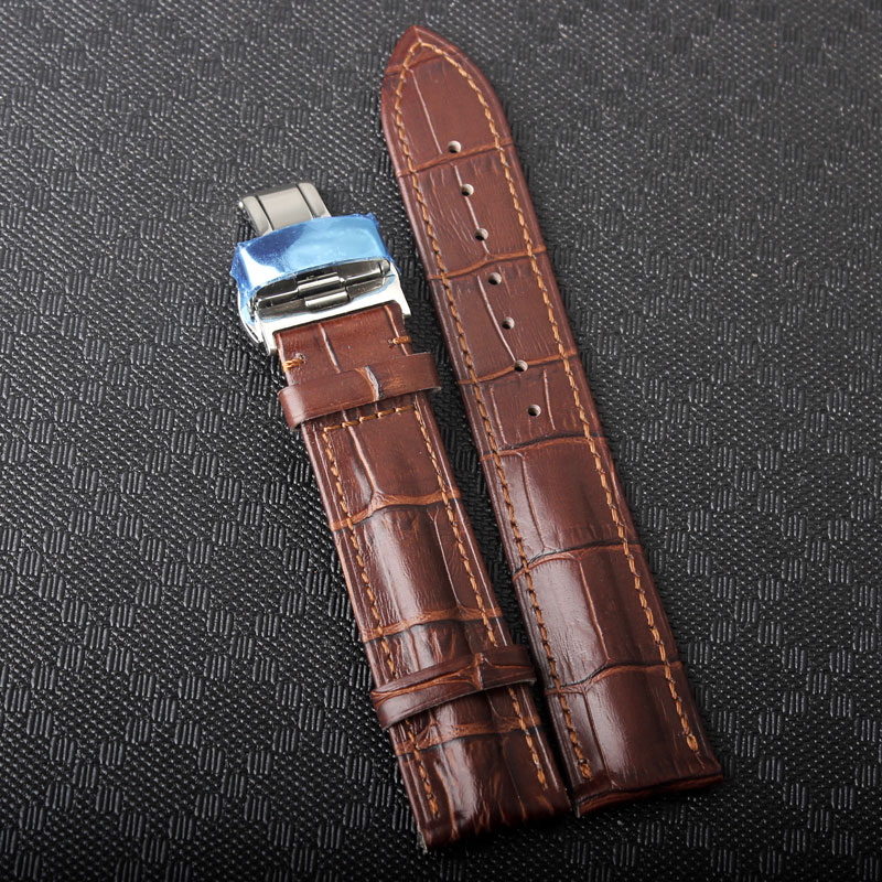 Hidden Bands: Durable Strap Men Hight Quality Leather Watch Strap For 14