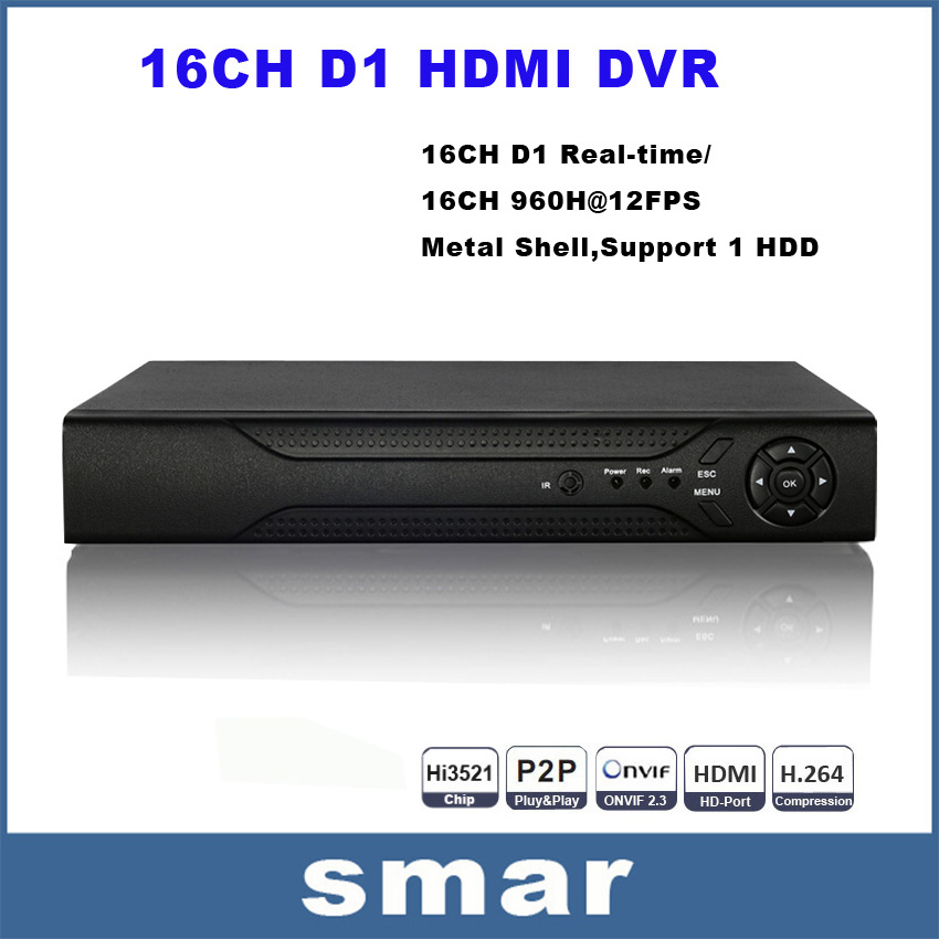 Гаджет   Hi3521 16Channel DVR D1 Recording HDMI+VGA Output Network Standalone DVR Recorder P2P Cloud Android Phone View  None Безопасность и защита