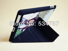 Blanks Sublimation DIY Case For iPad 2/3/4 PU Leather Flip with Metal Plate insert Freeshipping(China (Mainland))