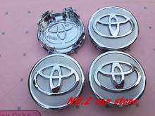 4 pz spedizione gratuita 57mm toyota wish vios old corolla prius car badge wheel centro hub caps dell'emblema copre accessori auto(China (Mainland))