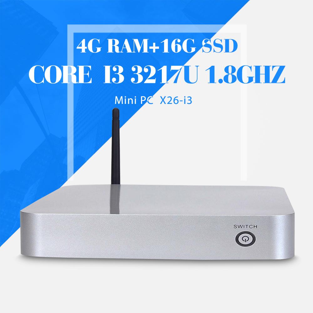 Ultra-Low-Power i3 3217u dual core 4g ram+16g ssd+wifi Mini Desktop PC Mini PC With Fan Cheap Mini PC Station Thin Client(China (Mainland))