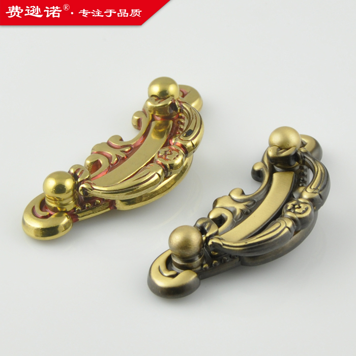 All copper coffee bronze antique European furniture wardrobe drawer handle small hands pull T166034<br><br>Aliexpress