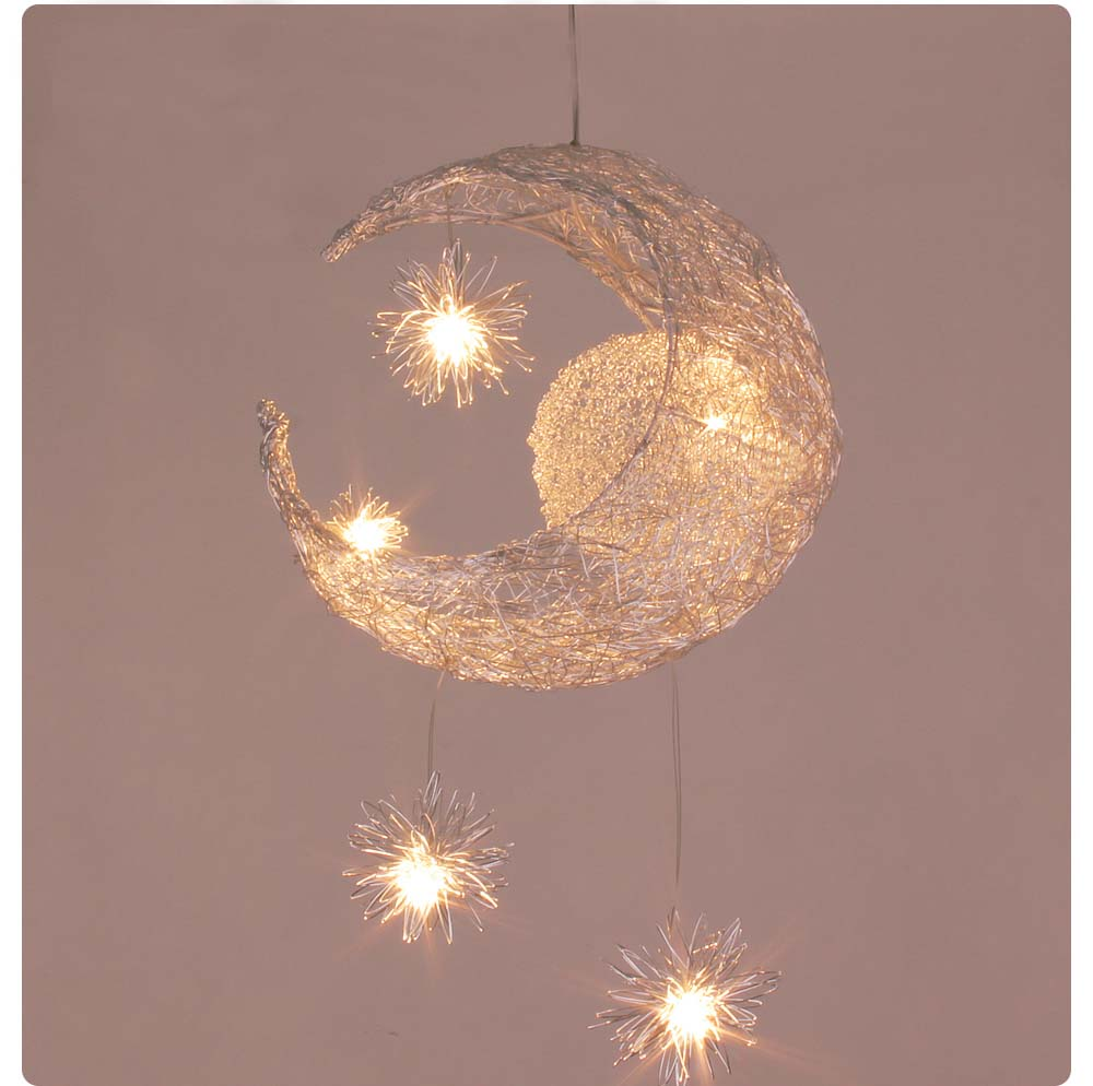 Kid's Room Lighting Modern Fashion Moon&Star Pendant Lights Child Bedroom Lamps Aluminum Chander for Living Room Home Decoration(China (Mainland))
