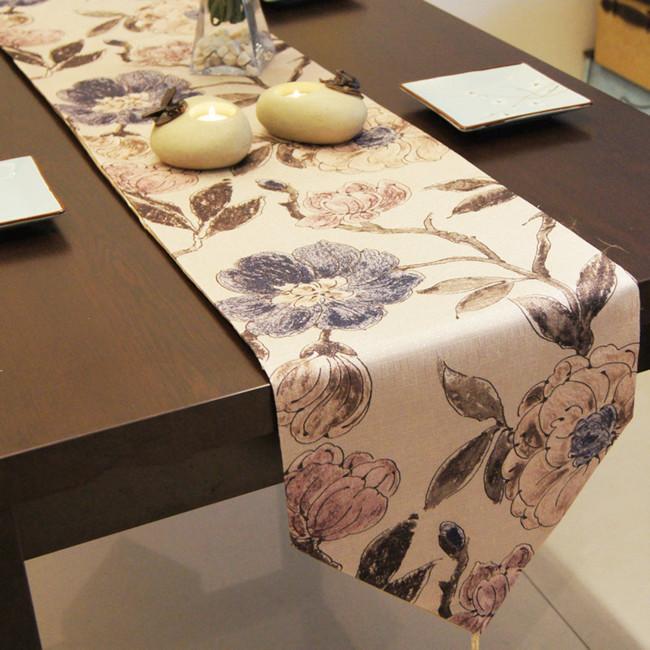Nunu table runner heather grey color fashion luxury brief fashion table runner table cloth(China (Mainland))