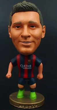 """Hot sale Soccer star toys 2.5"""" Toy Doll Figure 2014-2015 season Best Gift to you(China (Mainland))"""