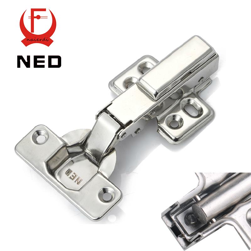 NED F209 Furniture Hardware Full Overlay Hinge Rustless Iron Hydraulic Damper Buffer Soft Close Cabinet Cupboard Door Hinges(China (Mainland))