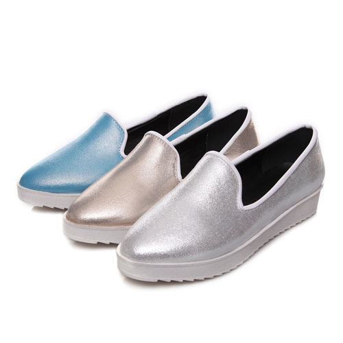 ENMAYER Office &amp; Career flats shoes Solid Slip-On Round Toe women flats Closed Toe Spring/Autumn ladies flat shoes size 34-39 <br><br>Aliexpress