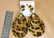 Big Water Drop Acrylic Earrings Female Punk Rock Hip Hop Sexy Leopard Earrings Jewelry