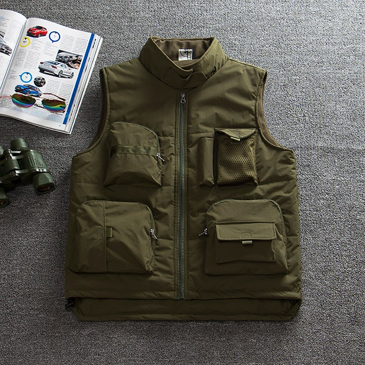 Winter Thicken Fishing Jacket Men's Fly Fishing Vest Outdoor Fishing Jersey Outdoor Camping Clothes Photography Vest Coats