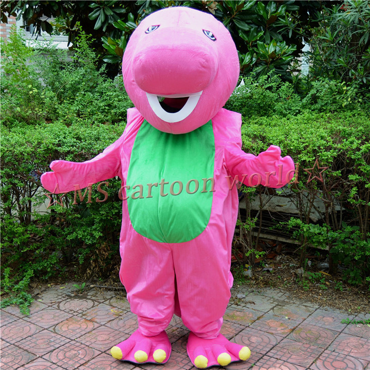 2015 Brand new Giant Stupid barney mascot costume barney family mascot Halloween barney characters cartoon fancy dress(China (Mainland))