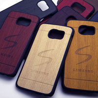 For Samsung Galaxy S6 case cover wood Vintage RetroStyle S6 edge S5 S4 all available 1pc free shipping
