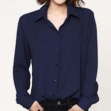 Chiffon blouse white shirt women long sleeve loose plus size cheap clothes china blusas Office ladies work wear 4XL 5xl