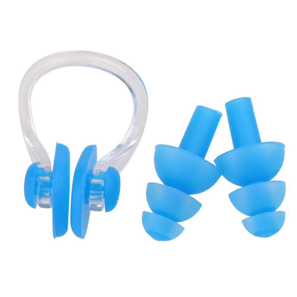 High Quality Silicone Earplug Nose Clip Set Free Shipping Worldwide