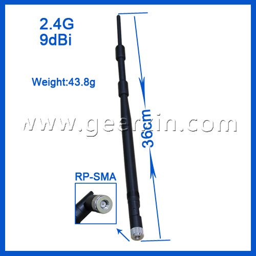 2.4g 9dbi sma router network antenna(China (Mainland))
