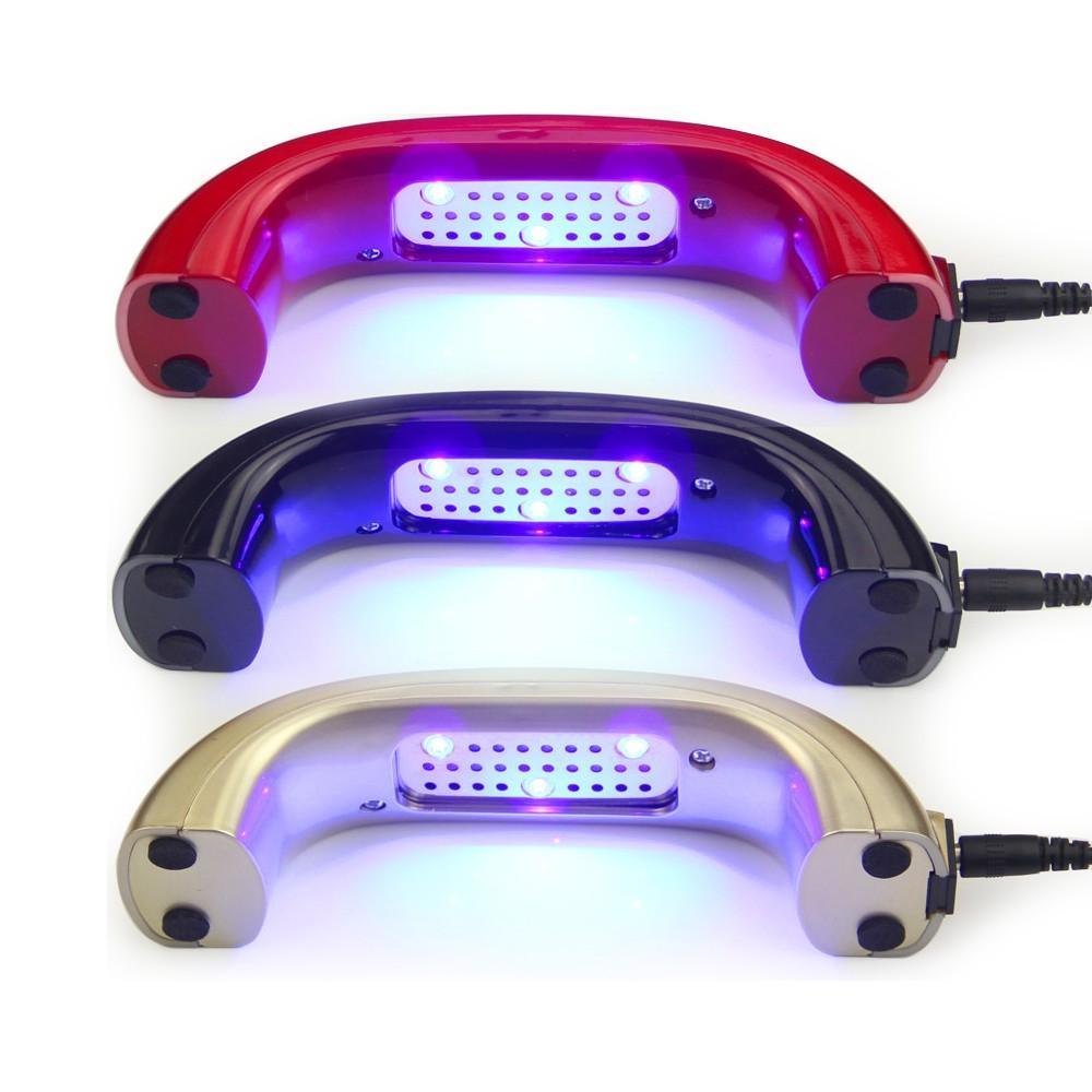 LKE 9W LED UV Nail Lamp for Curing UV Gel Nail Polish Nail Dryer Rainbow Shaped Manicure for Nail Art Tools(China (Mainland))