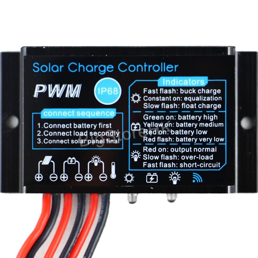 Солнечный контроллер Y-solar 10A 12V IP68 10A-12V 12v 24v 40a mppt pwm solar regulator with lcd display usb intelligent streetlight three time solar charge controller y solar
