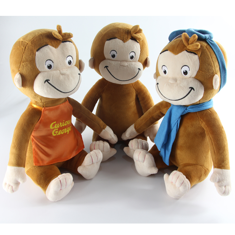 2016 Cute 30CM CURIOUS GEORGE Monkey plush toy Stuffed Animals & Plush Kids Christmas Birthday Gift(China (Mainland))