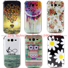 Cute Owl Flowers TPU Soft Case For SAMSUNG Galaxy Grand Duos i9082 & NEO i9060 I9063 Phone ShockProof Silicone Back Skin Cover