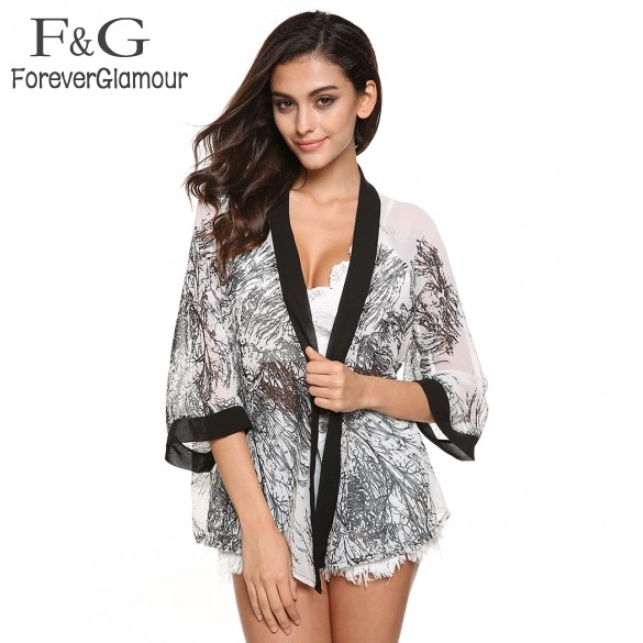 New Fashion Ladies' Floral Pattern Vintage Loose Outwear Casual Tops Elegant Cape Lady Kimono Blouses Branded #005 SV000035(China (Mainland))