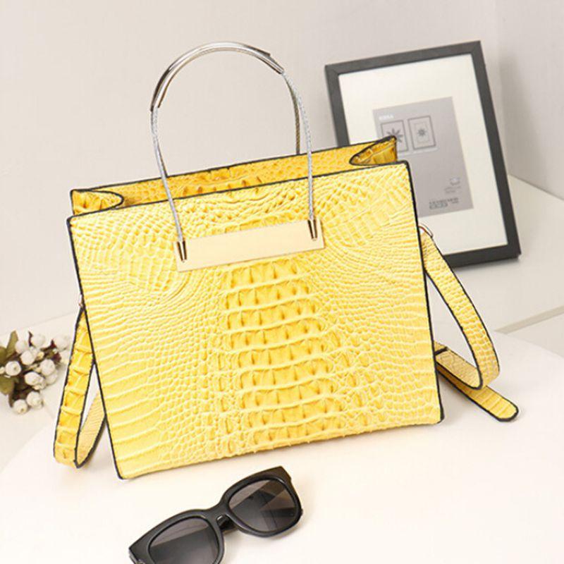 New PU leather bag crocodile handbag tote bolsos mujer Shoulder Bags luxury women messenger bag ladies for women YA80-184(China (Mainland))
