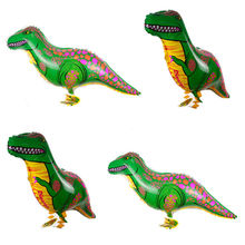 85*40cm animal Dinosaur walking pet Foil Balloon Kids Birthday Wedding Party Inflatable Air Balloons Decoration Gifts Mylar(China (Mainland))